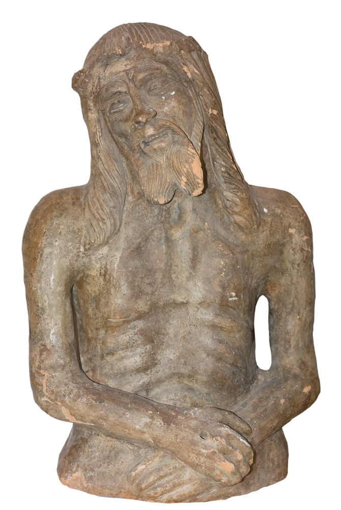 Busto di Cristo in terracotta