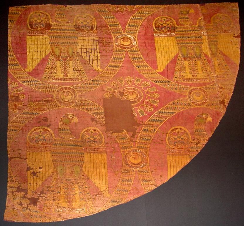 Parte laterale di casula, sciamito con aquile, Bisanzio, tardo VIII secolo - IX secolo