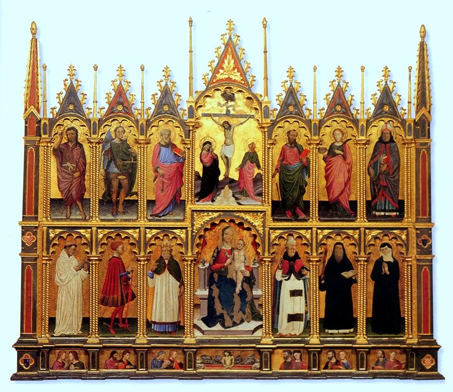 Michele di Matteo Lambertini, Polittico, metà XV secolo, olio su tavola.