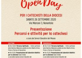 Open day per i catechisti - sabato 26 settembre 2020